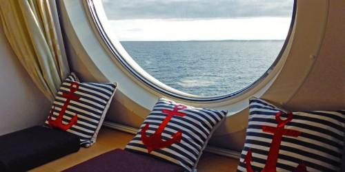 window seat in the Nova Star's Deluxe Ocean View cabin
