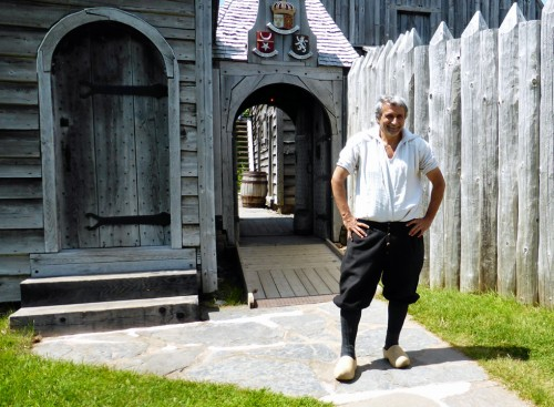 Wayne Melanson, who can trace his Acadian ancestry back ten generations, at the Port Royal National Historic Site, Nova Scotia