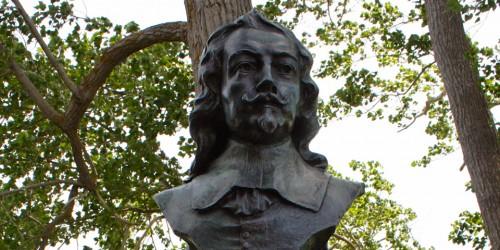 Samuel de Champlain bust, Port Royal National Historic Site, Samuel de Champlain statue, Nova Scotia