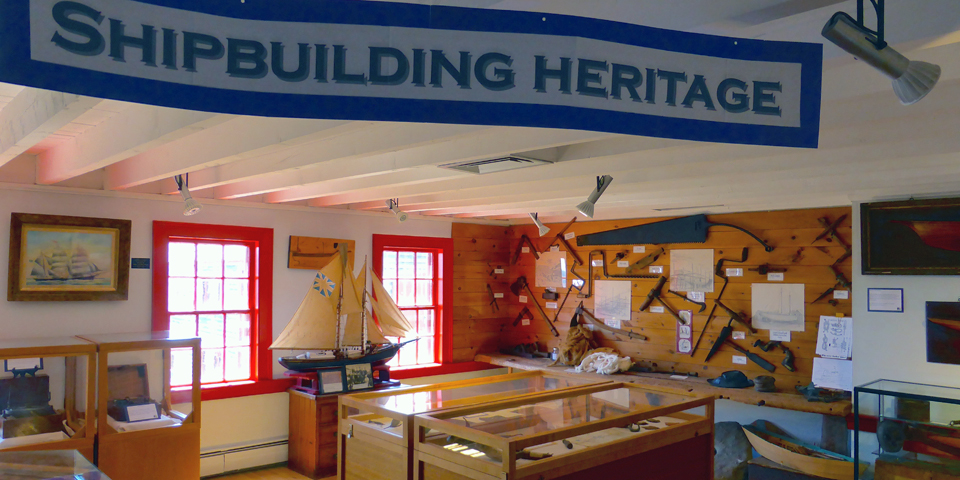 Shelburne County Museum shipbuilding display, Shelburne, Nova Scotia