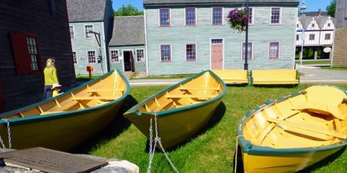 dories at the Shelburne Museum, Shelburne,, Nova Scotia