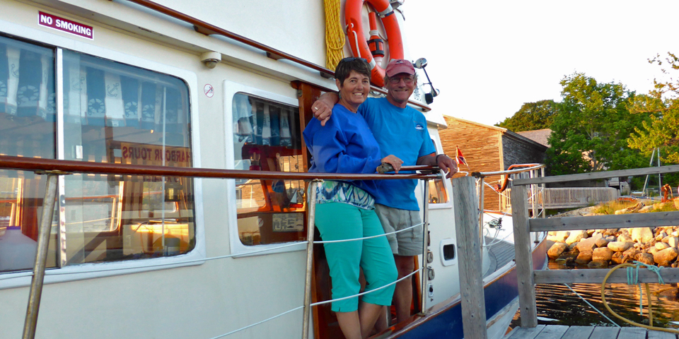 Sherri and Ken Taylor, The Brown Eyed Girl, Shelburne Harbour, Nova Scotia