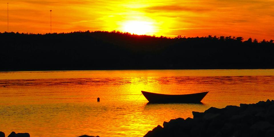 sunset, Shelburne, Nova Scotia