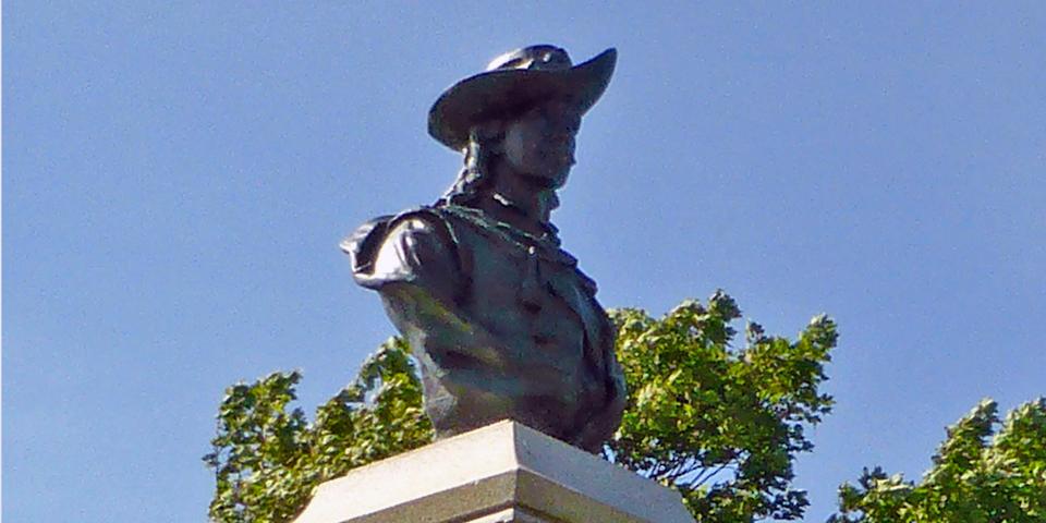 Sieur de Mons bust, Fort Anne, Annapolis Royal, Nova Scotia
