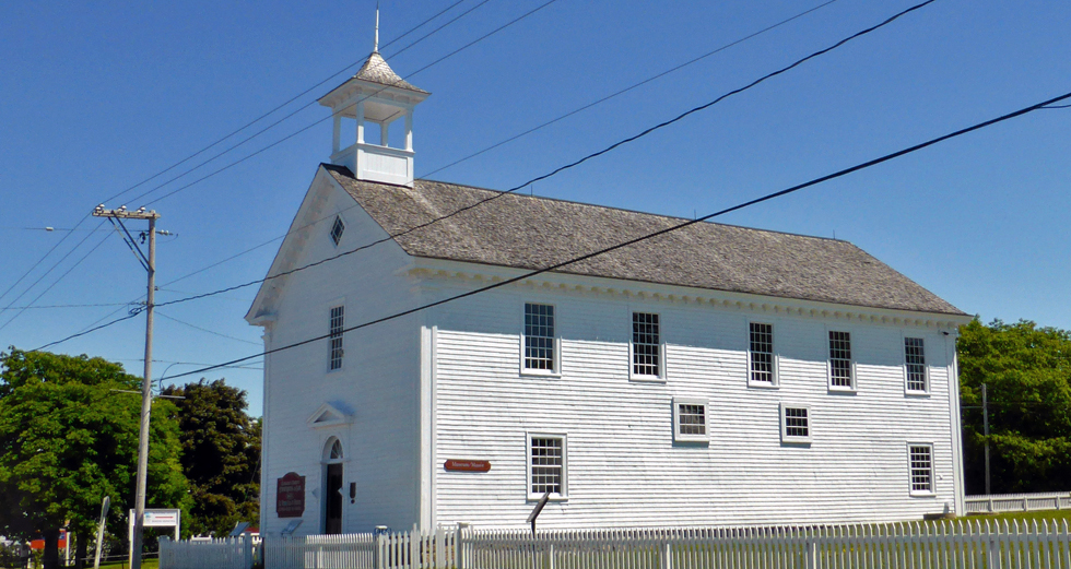 The Argyle Township Court House and Gaol in the village of Tusket, Nova Scotia