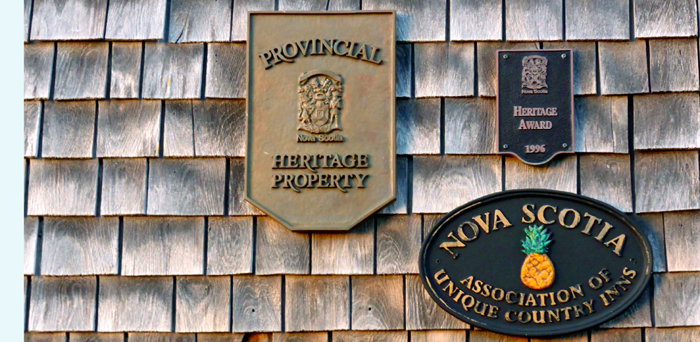 inn signs for Unique Country Inns of Nova Scotia and Registered Heritage Properties