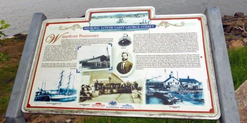 Waterfront businesses sign, Annapolis Royal, Nova Scotia