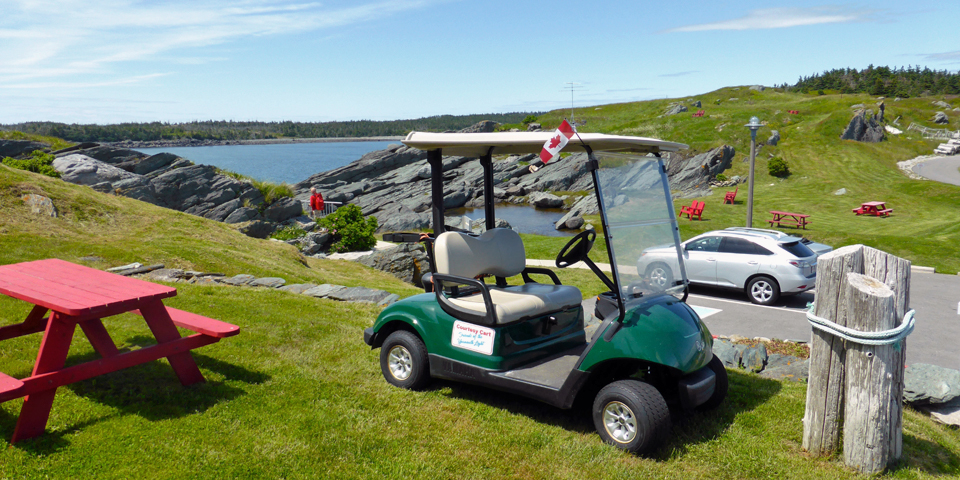 A courtesy cart is available at Cape Forchu Lightstation for those with mobility issues.