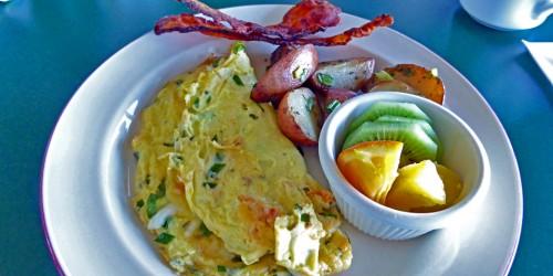 lobster omelet, Ye Olde Argyler Inn, Nova Scotia