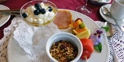 breakfast at the Cooper's Inn, Shelburne, Nova Scotia