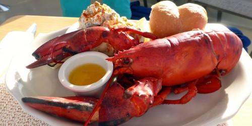 lobster dinner aboard the Brown Eyed Girl, Shelburne, Nova Scotia