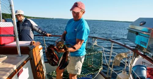 Captain Ken aboard the Brown Eyed Girl, Shelburne, Nova Scotia