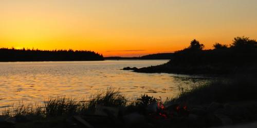 sunset, Ye Olde Argyle Inn, Nova Scotia
