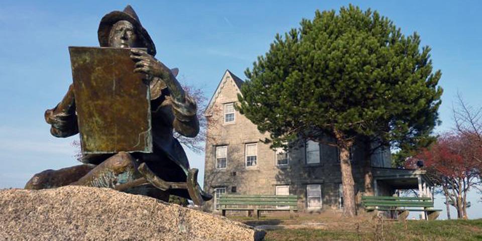 Fitz Henry Lane statue and home, Gloucester, Massachusetts