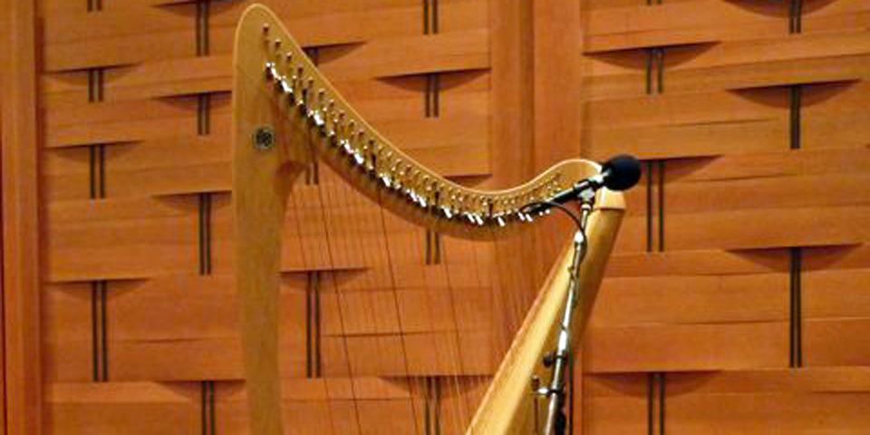 Orla Fallon's harp,Shalin Liu Performance Center, Rockport, Massachusetts