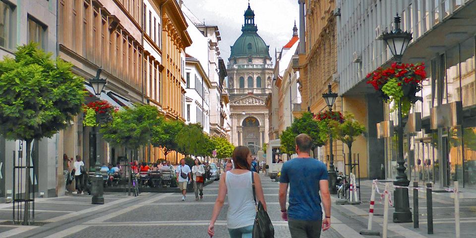 walking tour, Budapest, Hungary