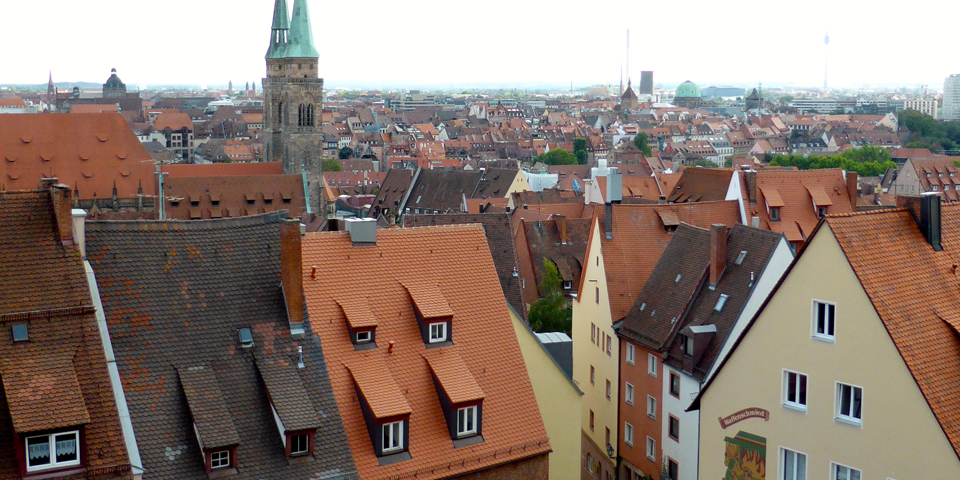 view of Old Town from castle, Nuremberg