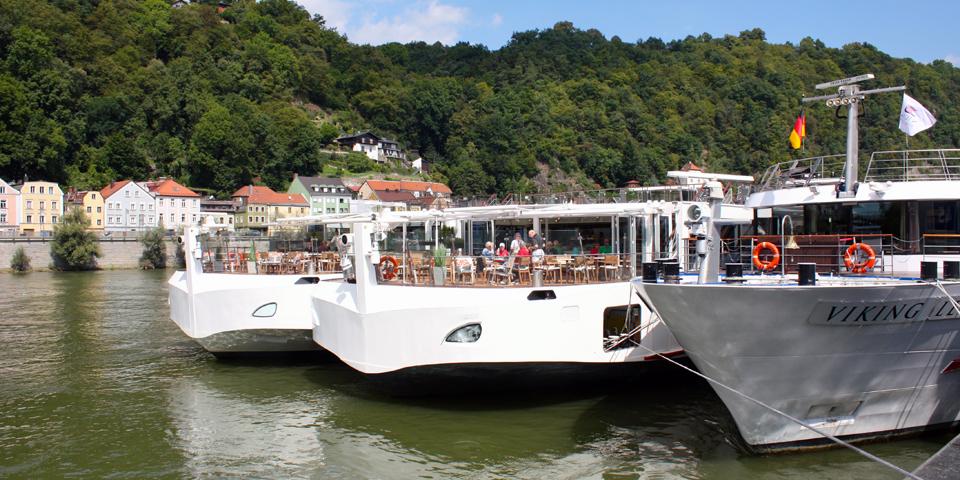 Viking River Cruises' longships in Passau