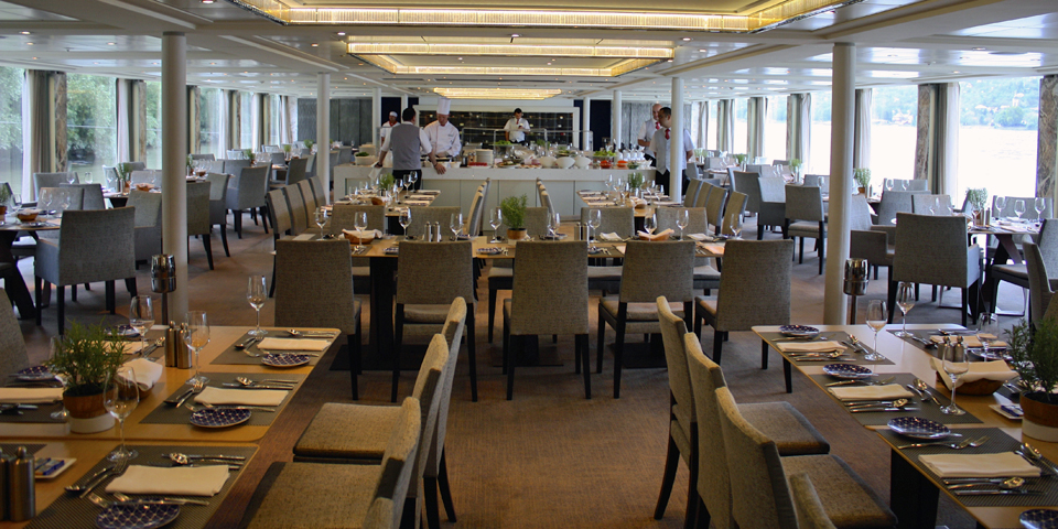 dining room aboard the viking Njord