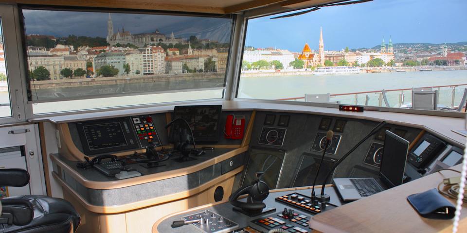 wheelhouse, Viking River Cruises' Viking Njord