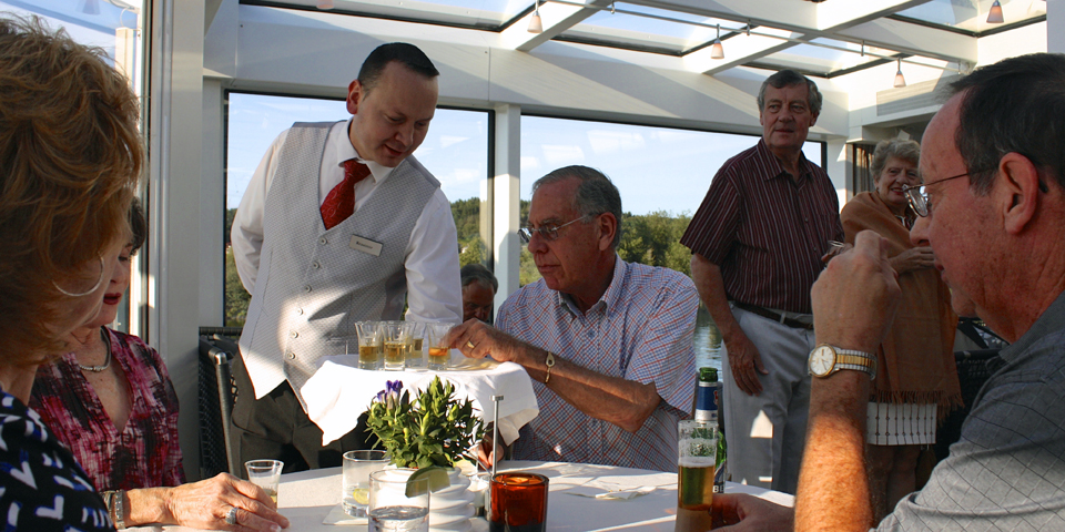 Linie Aquavit was served onboard the Viking Njord at a special reception for past passengers.