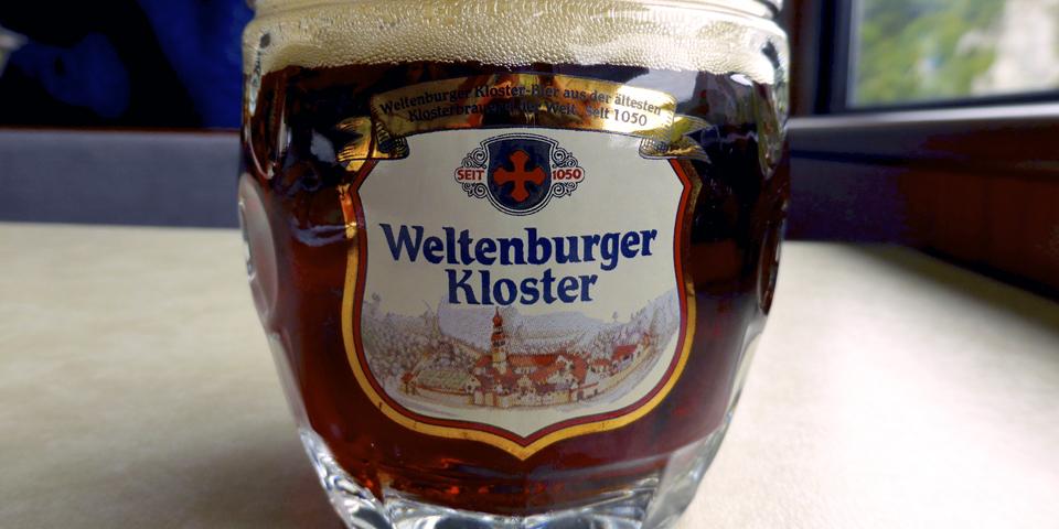 award-winning Weltenburger Kloster dunkel beer