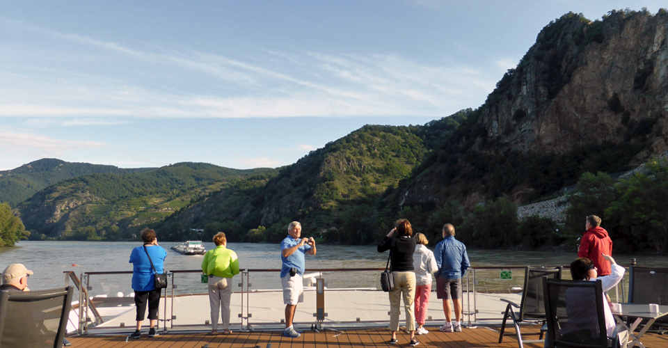 cruising through the Wachau Valley aboard the Viking Njord