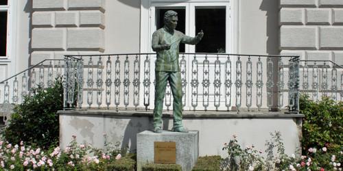 Karajan statue, Salzburg, Austria