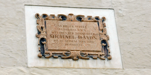 Michael Haydn plaque, Salzburg, Austria