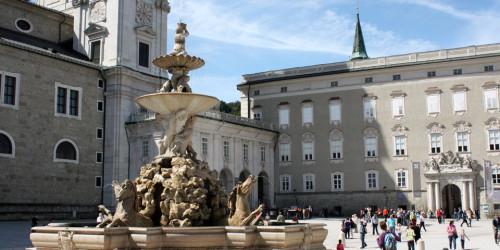 Residenzplatz and horse statue, Salzburg, Austria