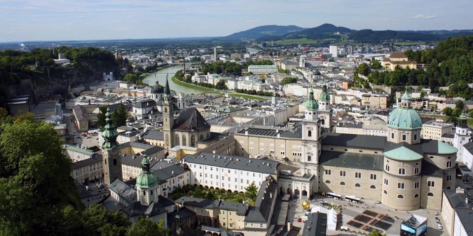 view from Hohensalzburg, Salzburg, Austria