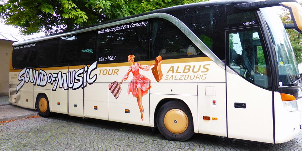 The Original Sound of Music Tour bus, Salzburg, Austria