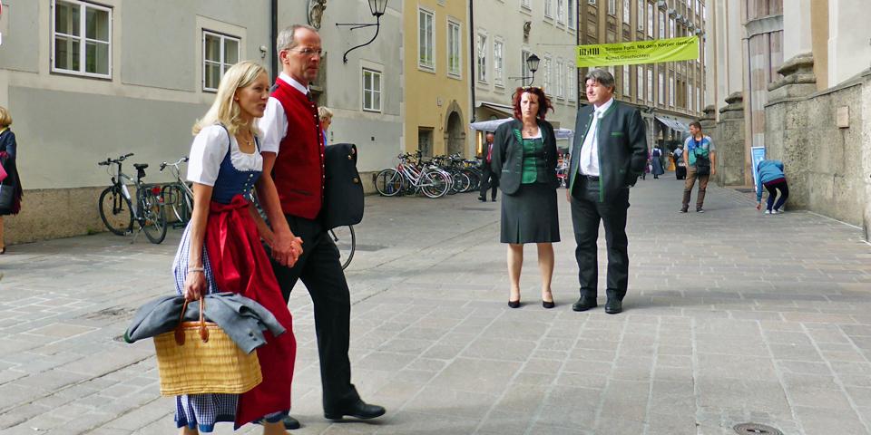 Salzburg, Austria during the Music Festival