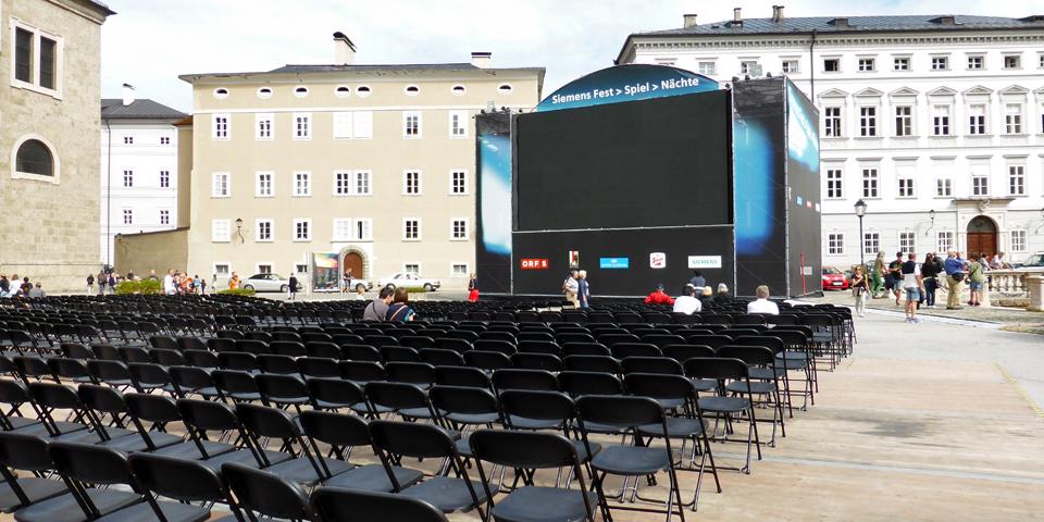 "Siemens ""Free Festival"" on Kapitelplatz , Salzburg, Austria"