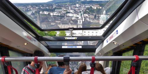 funicular to fortress, Salzburg, Austria