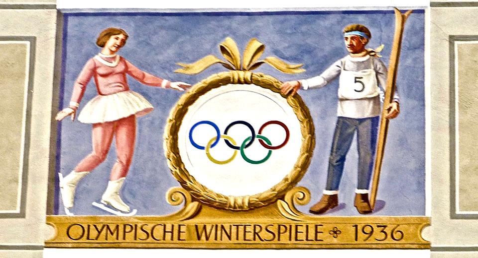 1936 Olympics fresco, Partenkirchen