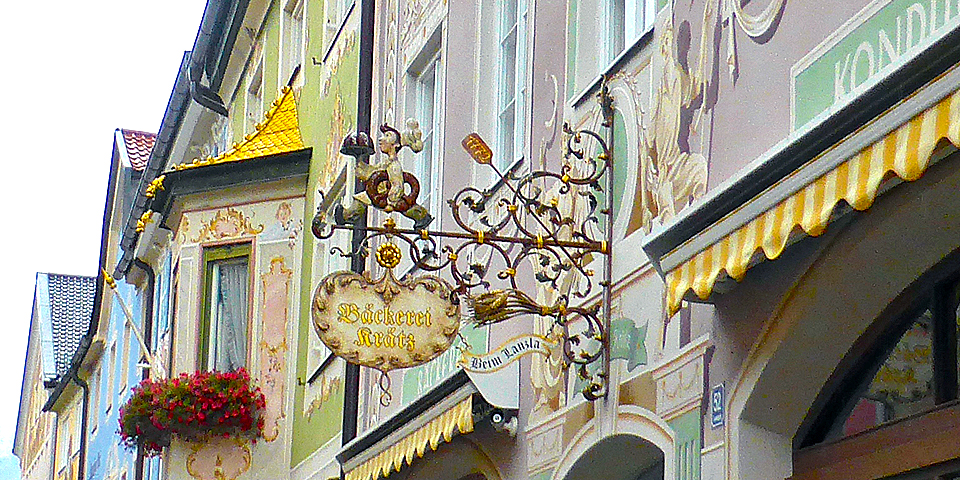 bakery sign in Partenkirchen