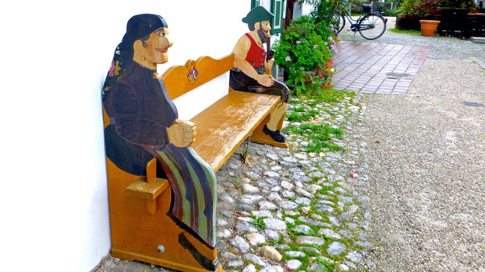 colorful bench, Garmisch