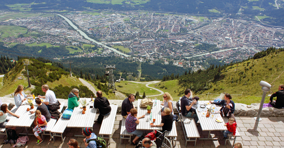 view from Seegrube of Innsbruck, Austria