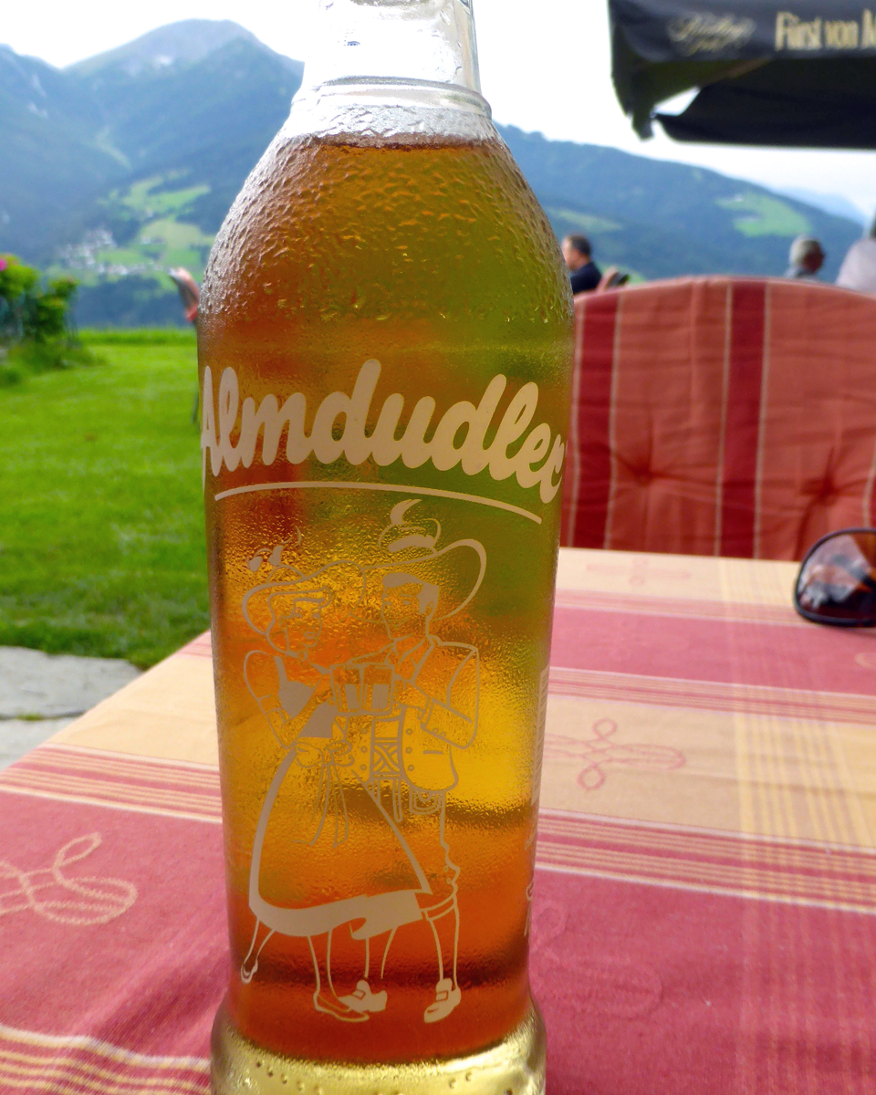 Almdudler at the Hotel Restaurant Grünwalderho, Patsch, Austria