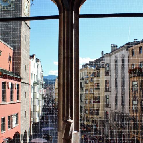 view from the royal box of Golden Roof,, Innsbruck, Austria