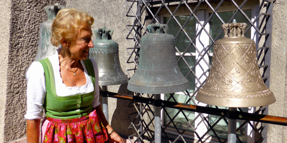 Elisabeth Grassmayr on the grounds of the Grammar Bell Foundry. Innsbruck, Austria