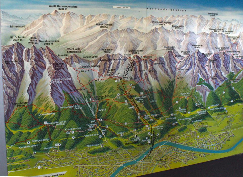 Innsbrucker Nordkettenbahnen map