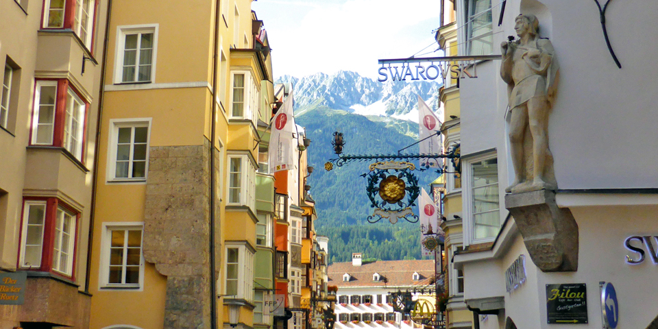 The largest Swarovski shop in the world is in Innsbruck's Old Town by the Golden Roof.