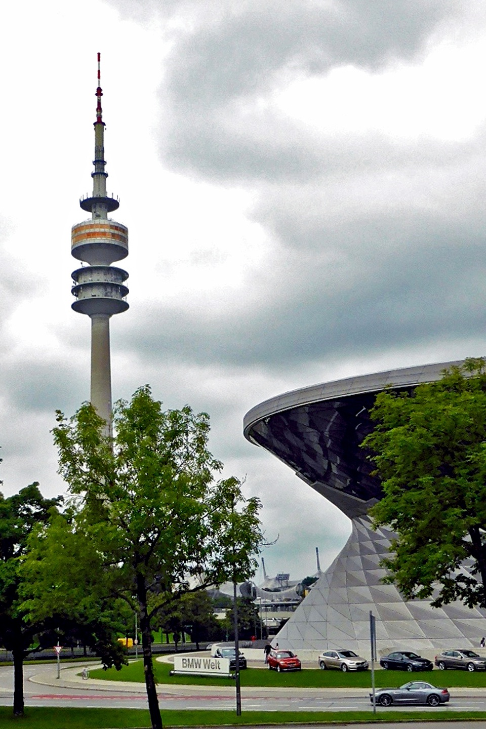 BMW World and Olympic Tower, Munich