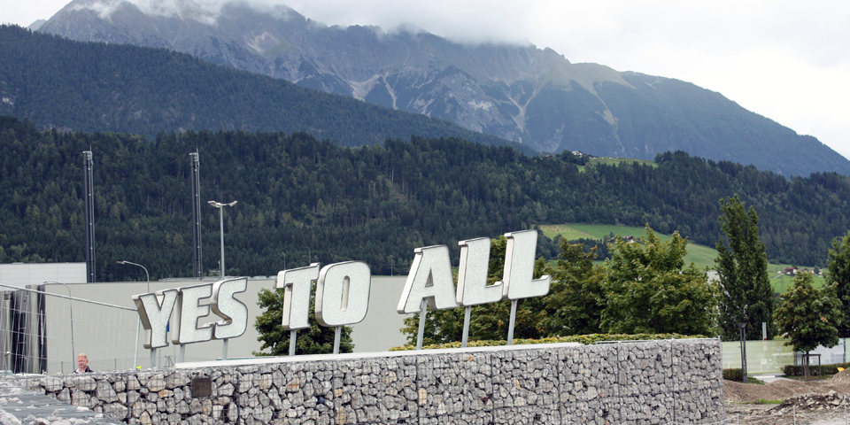 Yes to All in crystal, Swarovski Crystal Worlds, Wattens, Austria