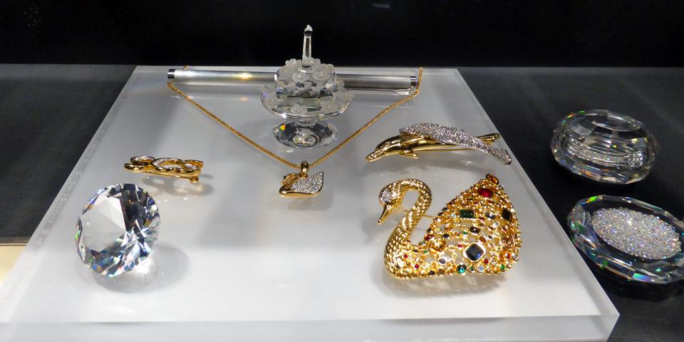Swarovski jewelry, VIP Lounge, Swarovski Crystal Worlds, Wattens, Austria