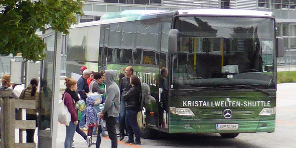 Swarovski shuttle, Wattens, Austria