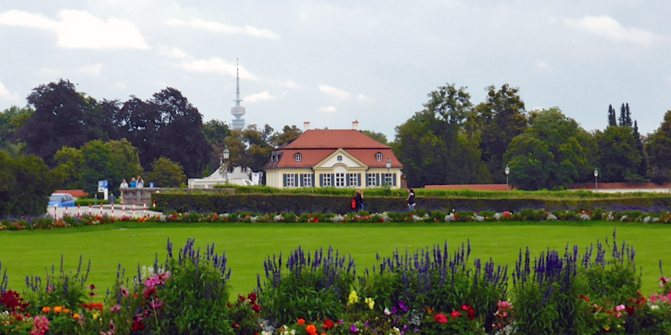 Nymphenburg Palace house and TV Tower