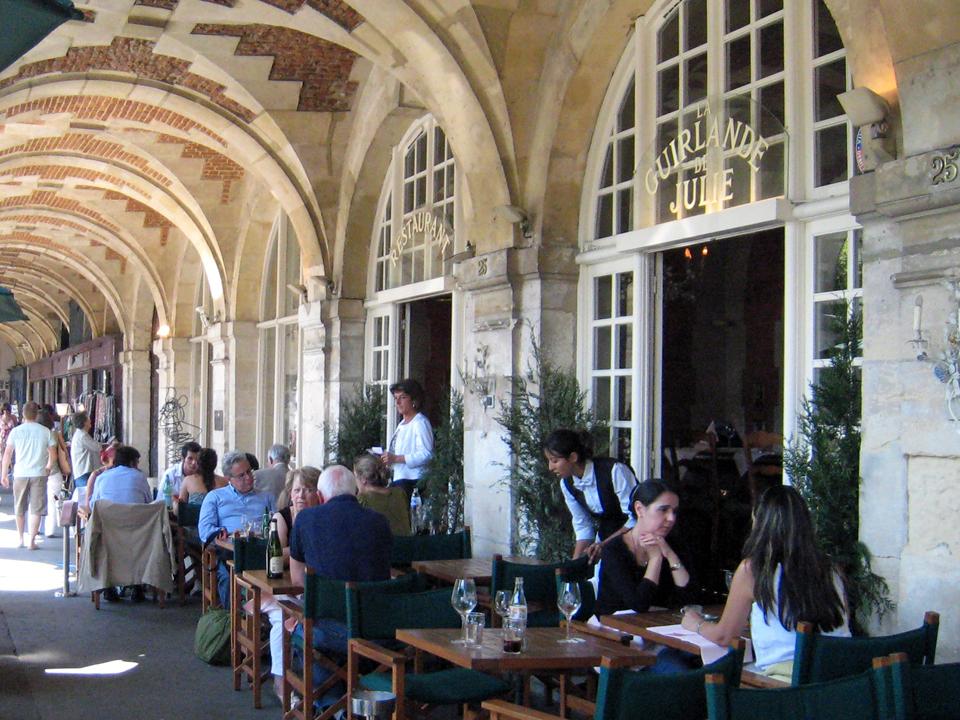 Place des Vosges cafe, Paris, France